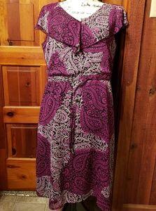 """Pretty purples med """" Fashion Bug"""" dress"""
